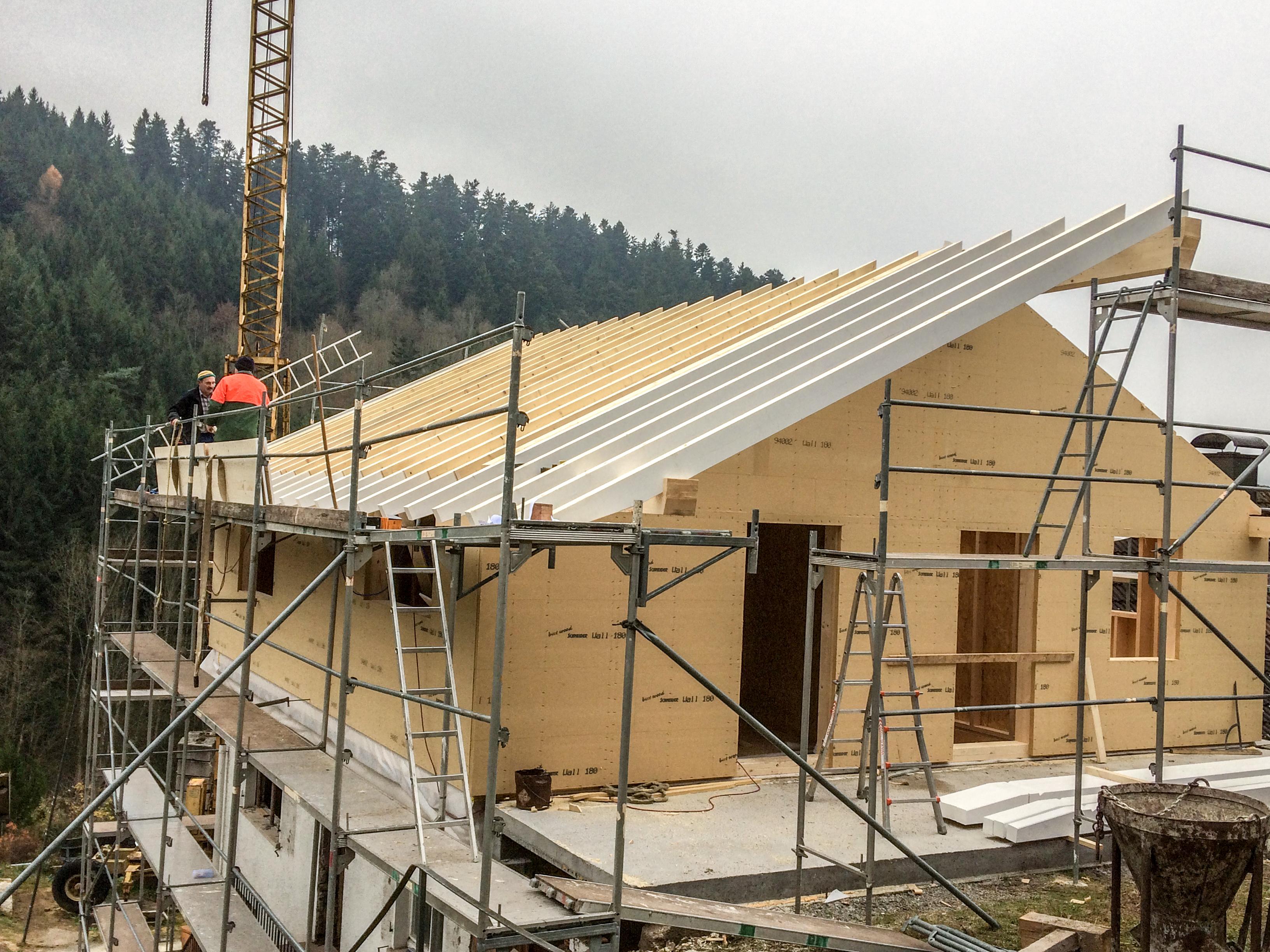 Wohnhaussanierung - Aufstockung